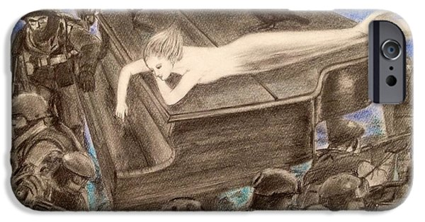 Piano Pastels iPhone Cases - Dream of the peace iPhone Case by Keiko Olds