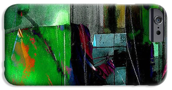 Texture iPhone Cases - Dream Scape Wall Art iPhone Case by Marvin Blaine