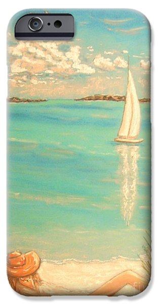 Beach Landscape Pastels iPhone Cases - Dream iPhone Case by The Beach  Dreamer