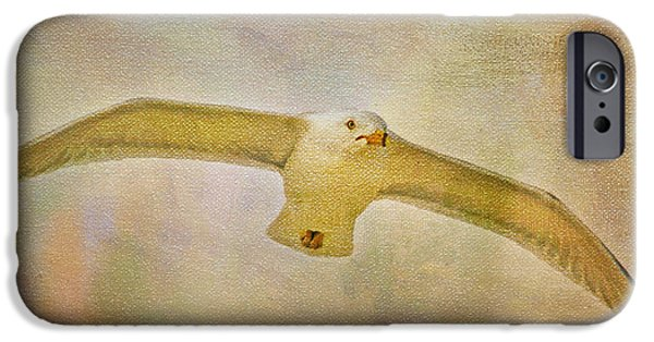 Seagull Mixed Media iPhone Cases - Dream World Seagull iPhone Case by Deborah Benoit