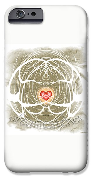 Dreamcatcher iPhone Cases - DreamCatcher iPhone Case by Methune Hively