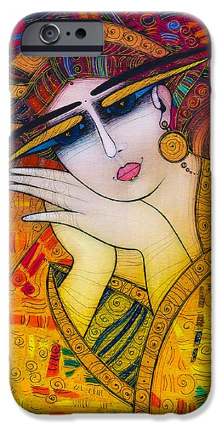 Albena iPhone Cases - Dreaming iPhone Case by Albena