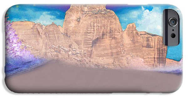 Shape iPhone Cases - Dreaming Landscape iPhone Case by Augusta Stylianou