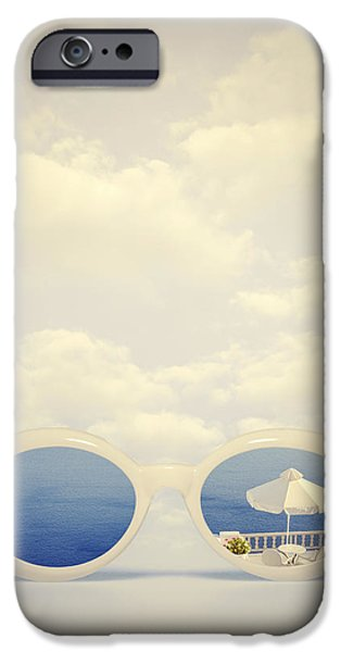 Sunglasses iPhone Cases - Dreaming Of Holidays iPhone Case by Joana Kruse