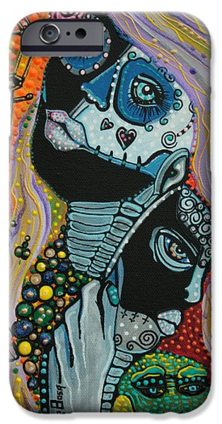 Mardi Gras Paintings iPhone Cases - Dreaming of Mardi Gras iPhone Case by Laura Barbosa