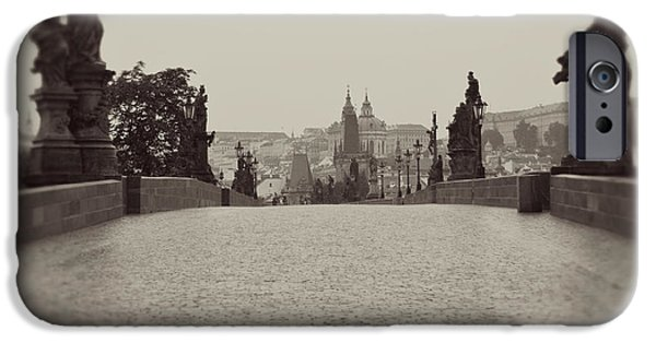 Stone Carving iPhone Cases - Dreaming of Prague iPhone Case by Ivy Ho