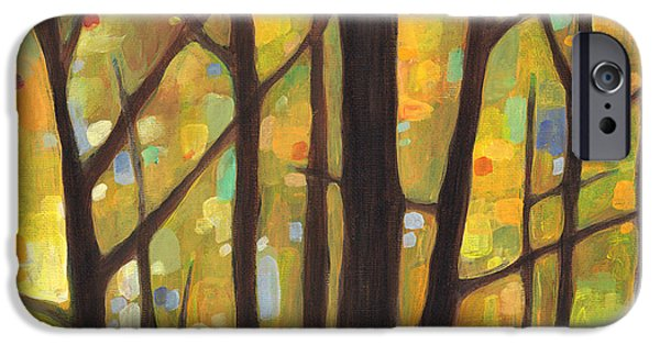 Dream Paintings iPhone Cases - Dreaming Trees 1 iPhone Case by Hailey E Herrera