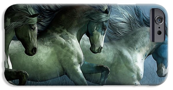 Horse iPhone Cases - Dreaming Wild Horses iPhone Case by Marvin Blaine