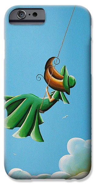 Figures Paintings iPhone Cases - Dreamland iPhone Case by Cindy Thornton