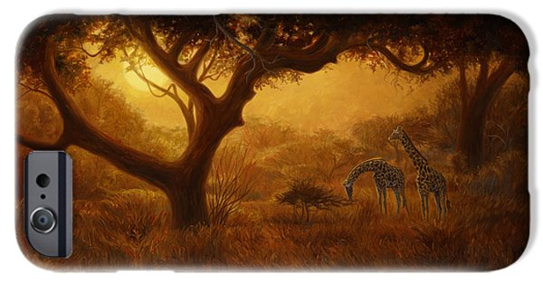 African Wildlife iPhone Cases - Dreamland iPhone Case by Lucie Bilodeau