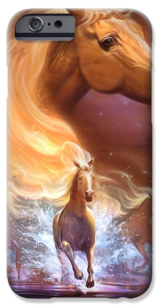 Equestrian Prints iPhone Cases - Dreams need hope to run free iPhone Case by Jeff Haynie