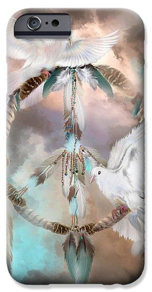 Birds iPhone Cases - Dreams Of Peace iPhone Case by Carol Cavalaris