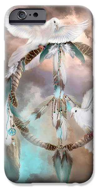 Giclee Mixed Media iPhone Cases - Dreams Of Peace iPhone Case by Carol Cavalaris