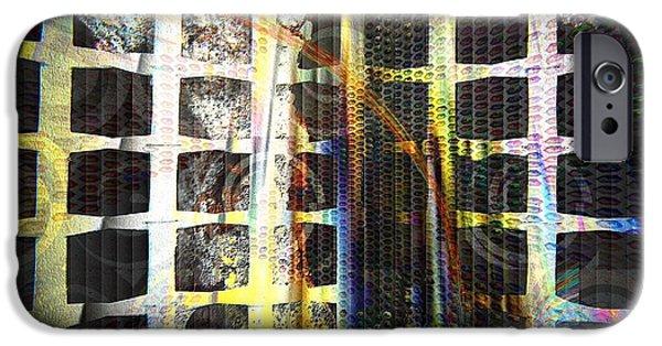 Dreamscape Digital Art iPhone Cases - Dreamscape 05 - No Escape A Nightmare iPhone Case by Mimulux patricia no