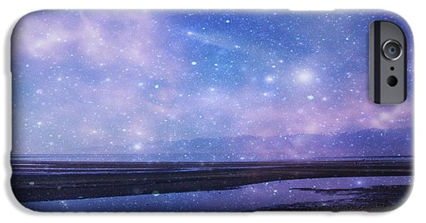 Mystical Landscape Mixed Media iPhone Cases - Dreamscape iPhone Case by Marilyn Wilson