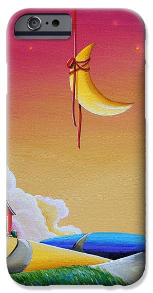 Star Nursery Paintings iPhone Cases - Dreamville iPhone Case by Cindy Thornton