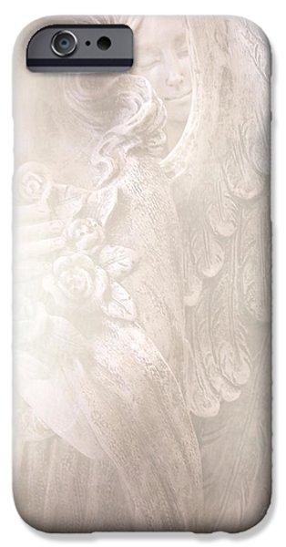 Angel. Spiritual iPhone Cases - Dreamy Angel Art - Ethereal Spiritual Dream Angel Wings - Heavenly Angel Wings iPhone Case by Kathy Fornal