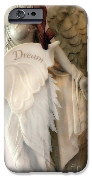 Angel. Spiritual iPhone Cases - Dreamy Angel Art Photography - Ethereal Spiritual Dream Angel Wings - Inspirational Angel Art iPhone Case by Kathy Fornal