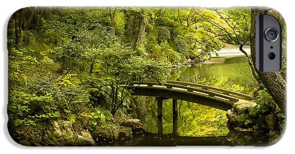 Restaurant iPhone Cases - Dreamy Japanese Garden iPhone Case by Sebastian Musial
