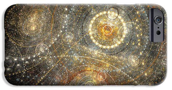Orsillo Digital iPhone Cases - Dreamy orrery iPhone Case by Martin Capek