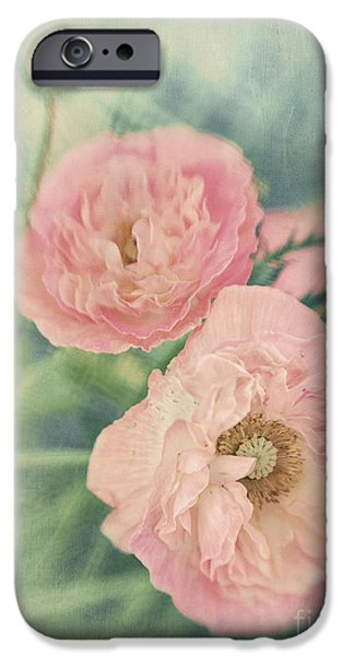 Flora iPhone Cases - Pastel  iPhone Case by Priska Wettstein
