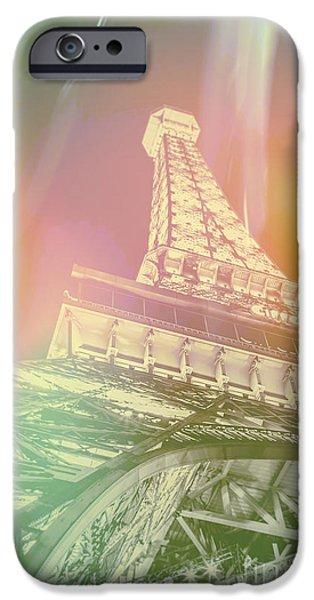 Paris Digital Art iPhone Cases - Dreamy Romance iPhone Case by Az Jackson