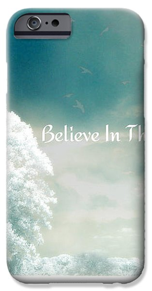 Dreamy Surreal Ethereal Infrared Inspirational Nature Photography - Believe In The Magic iPhone Case by Kathy Fornal