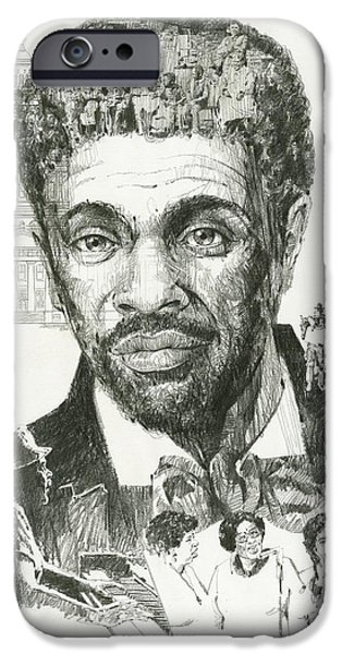 Slave Paintings iPhone Cases - Dred Scott iPhone Case by Don  Langeneckert