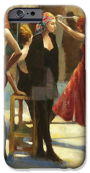 Dressing Room Paintings iPhone Cases - Dressing Room iPhone Case by Podi Lawrence