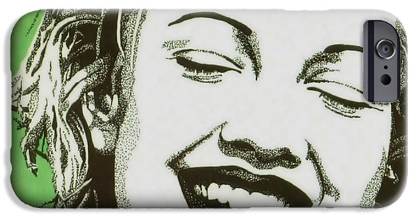 Pen And Ink iPhone Cases - Drew Barrymore iPhone Case by Cory Still