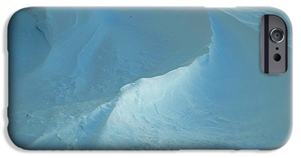 Wintertime iPhone Cases - Drifted Snow Waves iPhone Case by Luther   Fine Art