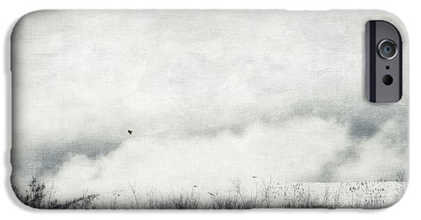 Drifting Snow Photographs iPhone Cases - Drifting iPhone Case by Priska Wettstein