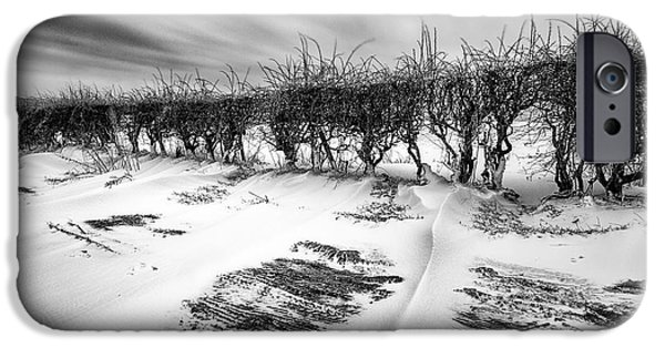 Drifting Snow Photographs iPhone Cases - Drifting snow iPhone Case by John Farnan