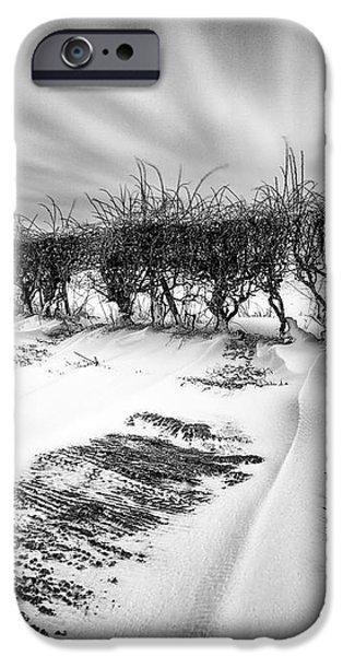 Drifting snow iPhone Case by John Farnan