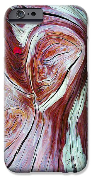 Pastel iPhone Cases - Driftwood 6 in Shades of Burgundy iPhone Case by Bill Caldwell -        ABeautifulSky Photography
