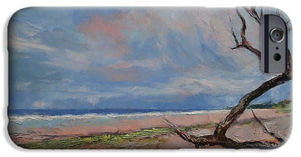 Impressionistic Landscape Paintings iPhone Cases - Driftwood iPhone Case by Michael Creese