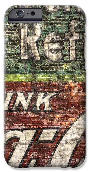 Buildings iPhone Cases - Drink Coca-Cola 1 iPhone Case by Scott Norris