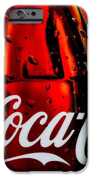 Drink Coca Cola iPhone Case by Bob Orsillo