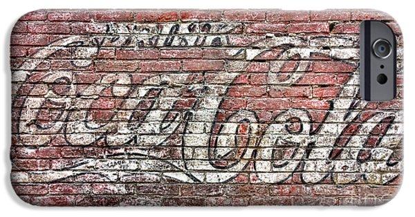 Coca-cola Signs iPhone Cases - Drink Coca Cola iPhone Case by Olivier Le Queinec