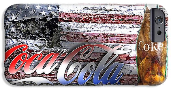 Recently Sold -  - 4th July iPhone Cases - Drink Ice Cold Coke 6 iPhone Case by James Sage
