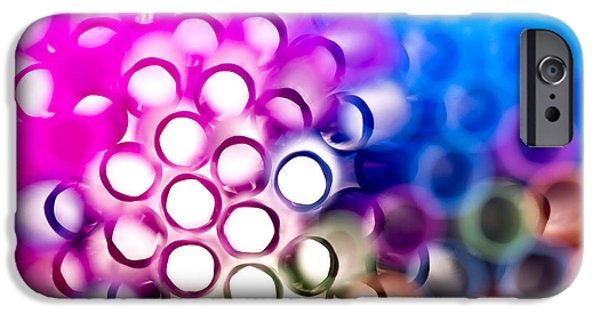 Vibrant iPhone Cases - Drinking straws 1 iPhone Case by Jane Rix