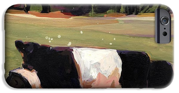 Farm Fields Paintings iPhone Cases - Drive By iPhone Case by Molly Poole
