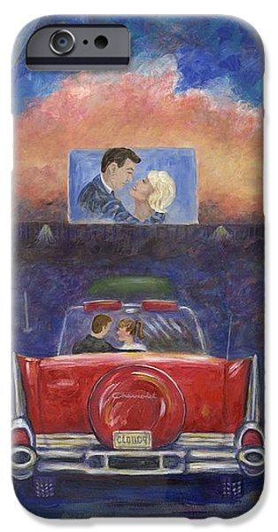Drive-in Movie Theater iPhone Case by Linda Mears