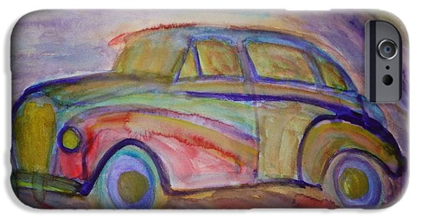 Component Paintings iPhone Cases - Drive Me Home Again iPhone Case by Hilde Widerberg