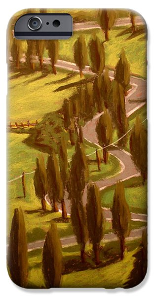 Escape Pastels iPhone Cases - Drive Through Italy iPhone Case by Joseph Hawkins