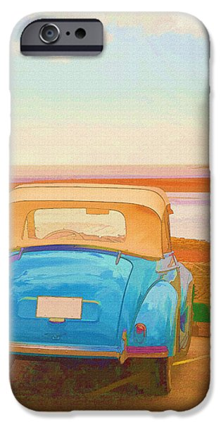 Beach Landscape iPhone Cases - Drive to the Shore iPhone Case by Edward Fielding