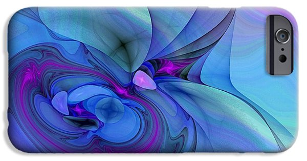 Asymmetrical iPhone Cases - Driven To Abstraction iPhone Case by Peggy J Hughes