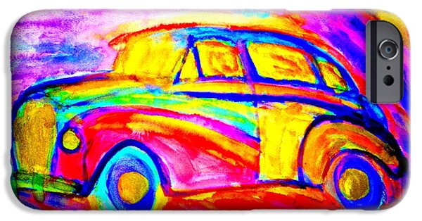 Sweating Paintings iPhone Cases - Driving home  iPhone Case by Hilde Widerberg