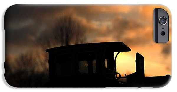 Sunset Reliefs iPhone Cases - Driving in the sunset iPhone Case by Four Hands Art