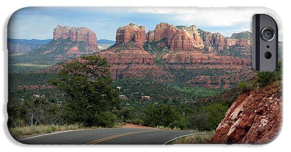 Sedona iPhone Cases - Driving to Sedona iPhone Case by Carol Groenen